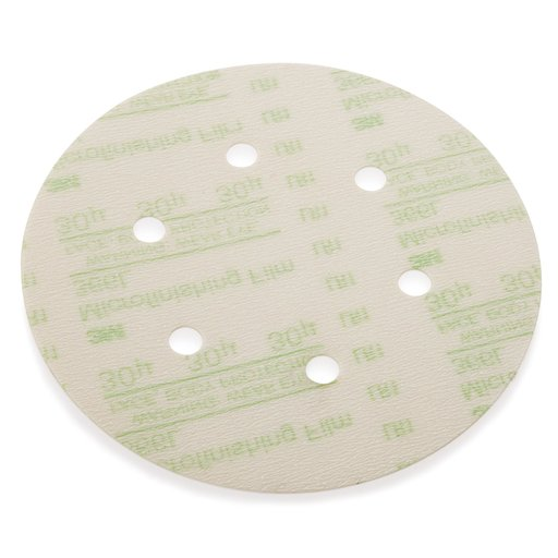 "View a Larger Image of 30mic 6"" Dia H & L Micro Finish Disk 366L Hole Pattern"