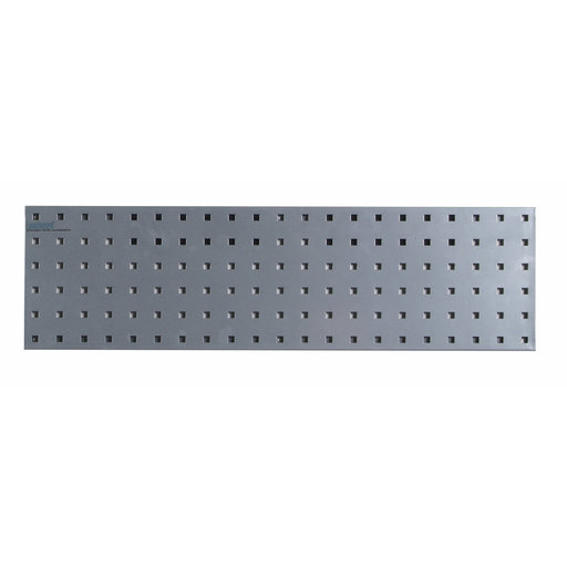 View a Larger Image of  31.5 In. W x 9 In. H Silver Epoxy, 18 Gauge Steel Square Hole Pegboard Strip