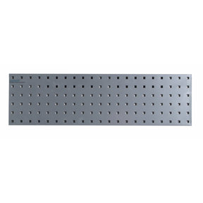 31.5 In. W x 9 In. H Silver Epoxy, 18 Gauge Steel Square Hole Pegboard Strip