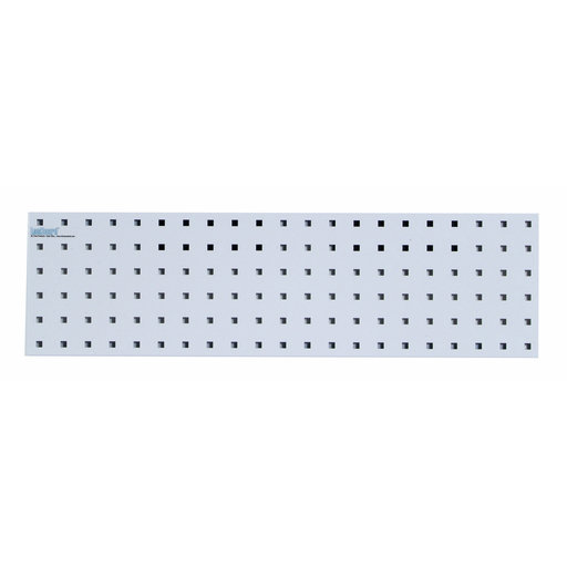 View a Larger Image of 31.5 In. W x 9 In. H White Epoxy, 18 Gauge Steel Square Hole Pegboard Strip