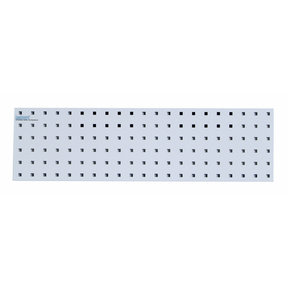 31.5 In. W x 9 In. H White Epoxy, 18 Gauge Steel Square Hole Pegboard Strip
