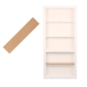 32 in. Cherry Extra Shelf Accessory for 32 in. InvisiDoor Bookcase Door