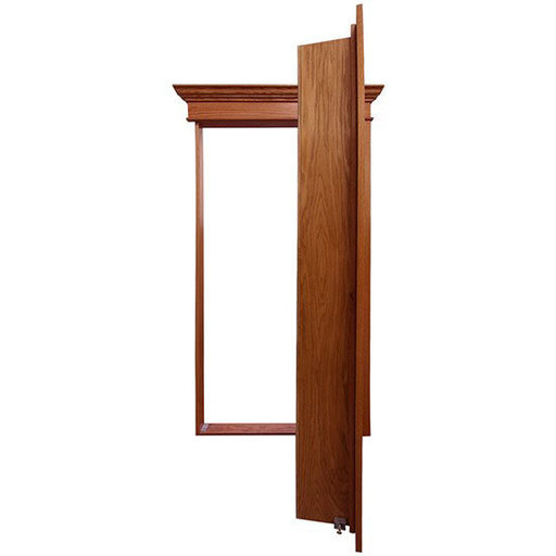 View a Larger Image of 32 in. x 80 in. Flush Mount Assembled Maple Unfinished Wood 4-Shelf InvisiDoor Bookcase Door