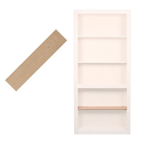 36 in. Maple Extra Shelf Accessory for 36 in. InvisiDoor Bookcase Door