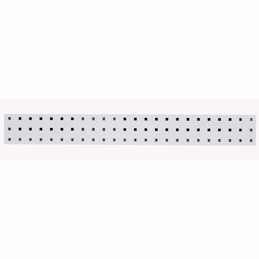 View a Larger Image of 36 In. W x 4.5 In. H White Epoxy, 18 Gauge Steel Square Hole Pegboard Strip