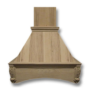36-in. Wide Arched Corbel Red Oak Wood Wall-Mount Range Hood
