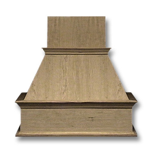 View a Larger Image of 36-in. Wide Decorative Red Oak Wood Wall-Mount Range Hood