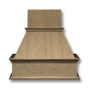36-in. Wide Decorative Red Oak Wood Wall-Mount Range Hood