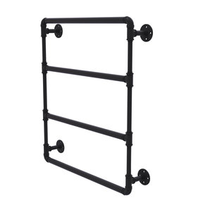 "36"" Wall Mounted Ladder Towel Bar, Matt Black Finish"