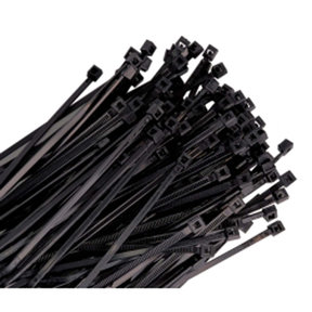 "36"" Long Heavy Duty Black Nylon Ties, with 175 lb Tensile Strength, 25/pk"