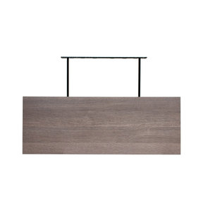 "36"" W x 13"" D x 2"" H Torino Gray Wood Floating Wall Shelf"