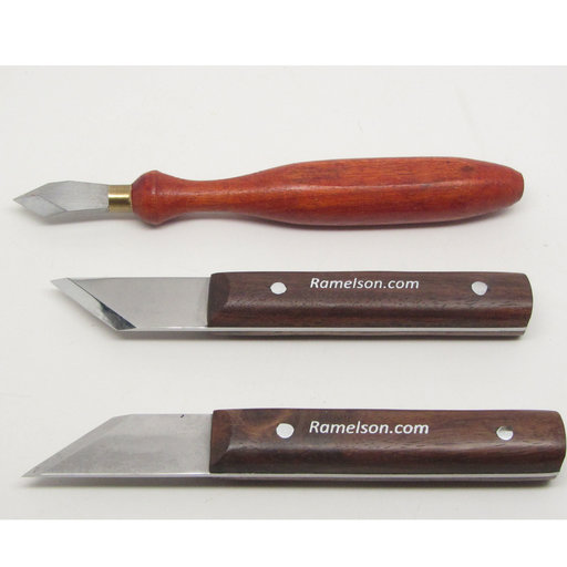 View a Larger Image of 3pc Woodworkers Carpenters Marking & Striking Knives