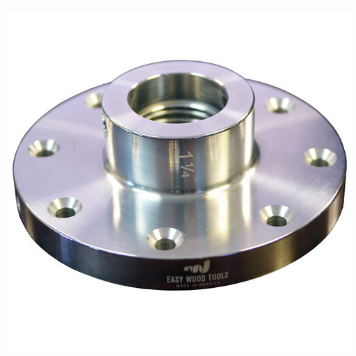 "View a Larger Image of 4-1/2"" Diameter Aluminum Faceplate, 1-1/4"" x 8 TPI"