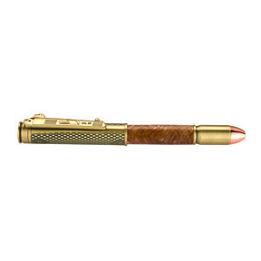 .45 Caliber Bullet Click Pen Kit Antique Brass