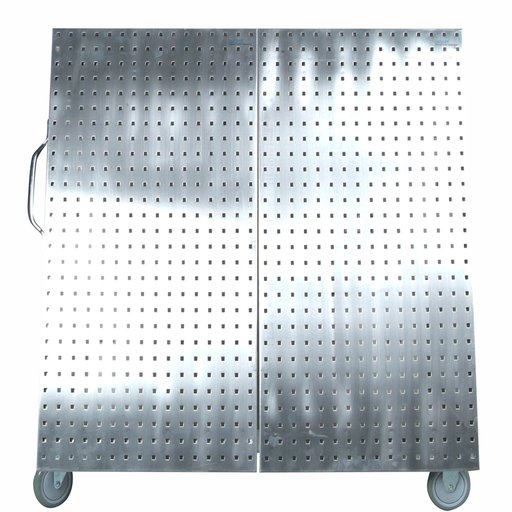 View a Larger Image of 48 In. L x 46 In. H x 26-5/8 In. W Stainless Steel Frame Tool Cart with Tray and Stainless Steel LocBoard