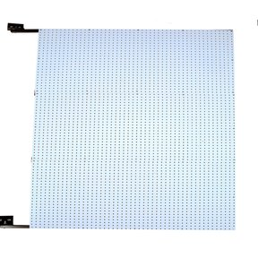 48 In. W x 72 In. H x 1-1/2 In. D Wall Mount Double-Sided Polypropylene Swing Panel Pegboard
