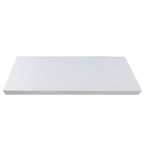 "View a Larger Image of 48"" W x 13"" D x 2"" H Palermo Gloss White Floating Wall Shelf"