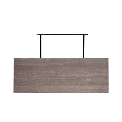 "View a Larger Image of 48"" W x 13"" D x 2"" H Torino Gray Wood Floating Wall Shelf"