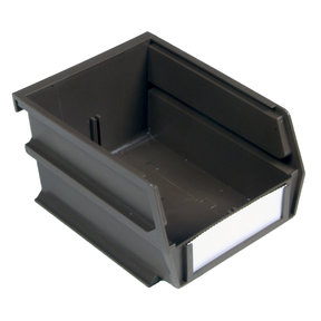 "5-3/8"" L x 4-1/8"" W x 3"" H Brown Stacking, Hanging, Interlocking Polypropylene Bins, 6 CT"