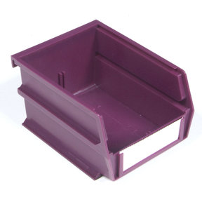 "5-3/8"" L x 4-1/8"" W x 3"" H Raspberry Stacking, Hanging, Interlocking Polypropylene Bins, 6 CT"