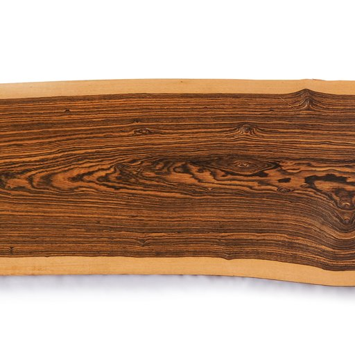 "View a Larger Image of 5/4 Bocote Natural Edge Slab, 59"" x 10"" x 1-1/4"""
