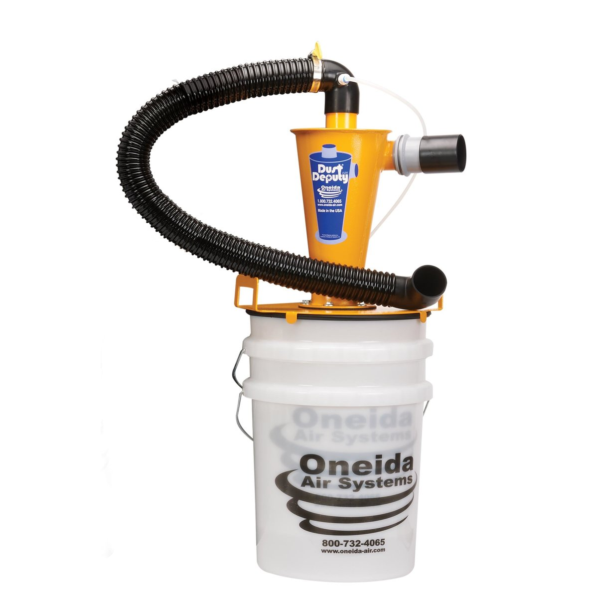 The Dust Deputy Deluxe Anti-Static Cyclone Separator 5 Gallon Kit