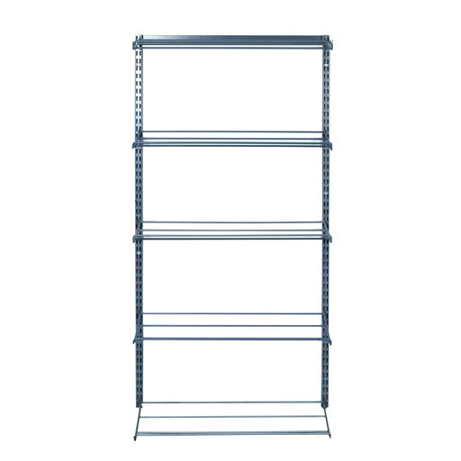 """View a Larger Image of (5) Tier Shoe and Boot Rack  14""""D x 63""""Hx 33""""W  with Top Track and Hang Rail"""