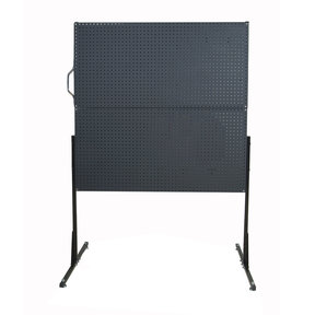 50 In. W Free-Standing Pegboard Unit with 4 Black Polyethylene Matte Finish DuraBoard Pegboards