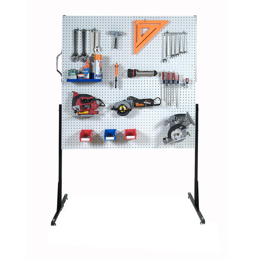 View a Larger Image of 50 In. W Free-Standing Pegboard Unit with 4 Polypropylene DuraBoard Pegboards