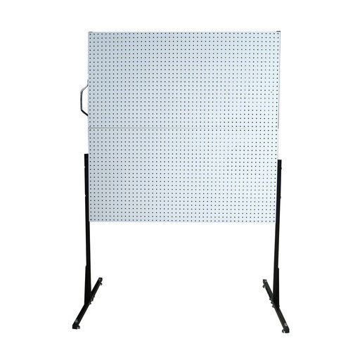 View a Larger Image of 50 In. W Free-Standing Pegboard Unit with 4 White High Density Fiberboard Pegboards