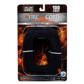 550 FireCord - 100' BLACK Paracord