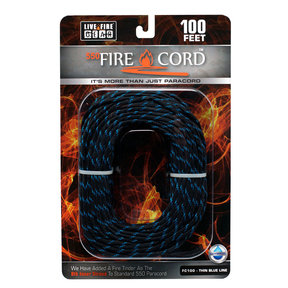 550 FireCord - 100' THINBLUELINE Paracord