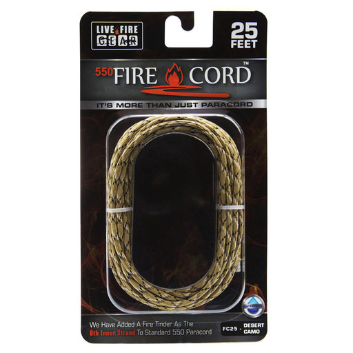 View a Larger Image of  550 FireCord - 25' DSCAMO Paracord