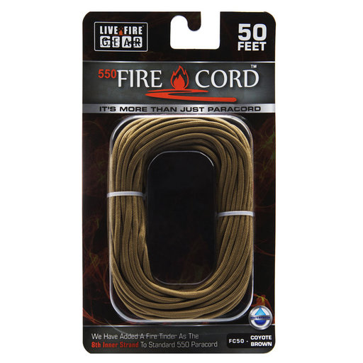 View a Larger Image of  550 FireCord - 50' COYOTEBROWN Paracord