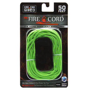 550 FireCord - 50' SAFETYGREEN Paracord