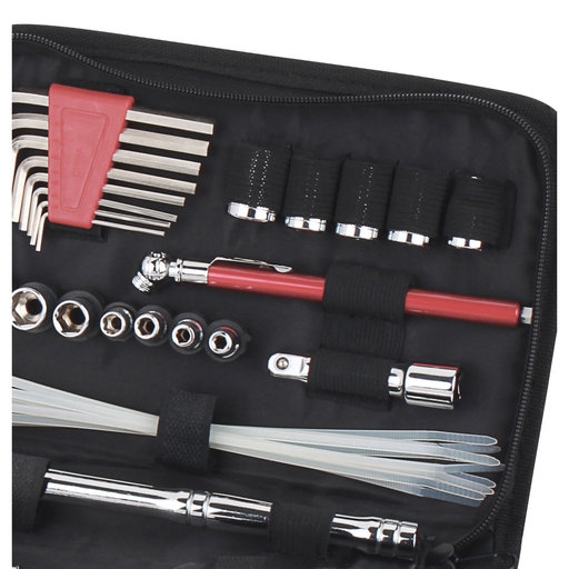 View a Larger Image of 56 Piece Auto Tool Set In Zipper Case- Metric
