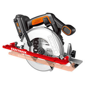 "6-1/2"" ExacTrack Circular Saw, Model WX530L 20v Li-ion"