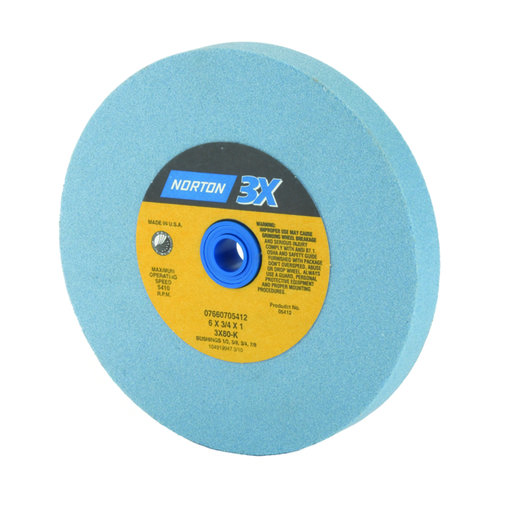 View a Larger Image of 6 x 3/4 x 1 Norton 3X Grinding Wheel 80 grit