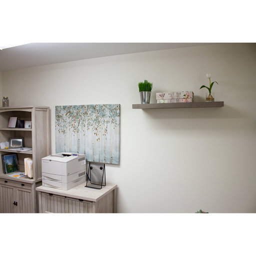 """View a Larger Image of 60"""" W x 13"""" D x 2"""" H Palermo Gloss White Floating Wall Shelf"""