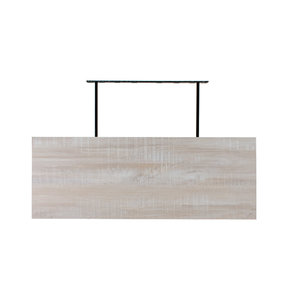 "60"" W x 13"" D x 2"" H Riviera Oyster Shell Floating Wall Shelf"