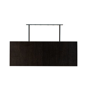 "60"" W x 13"" D x 2"" H Torino Dark Wood Floating Wall Shelf"