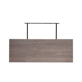 "60"" W x 13"" D x 2"" H Torino Gray Wood Floating Wall Shelf"