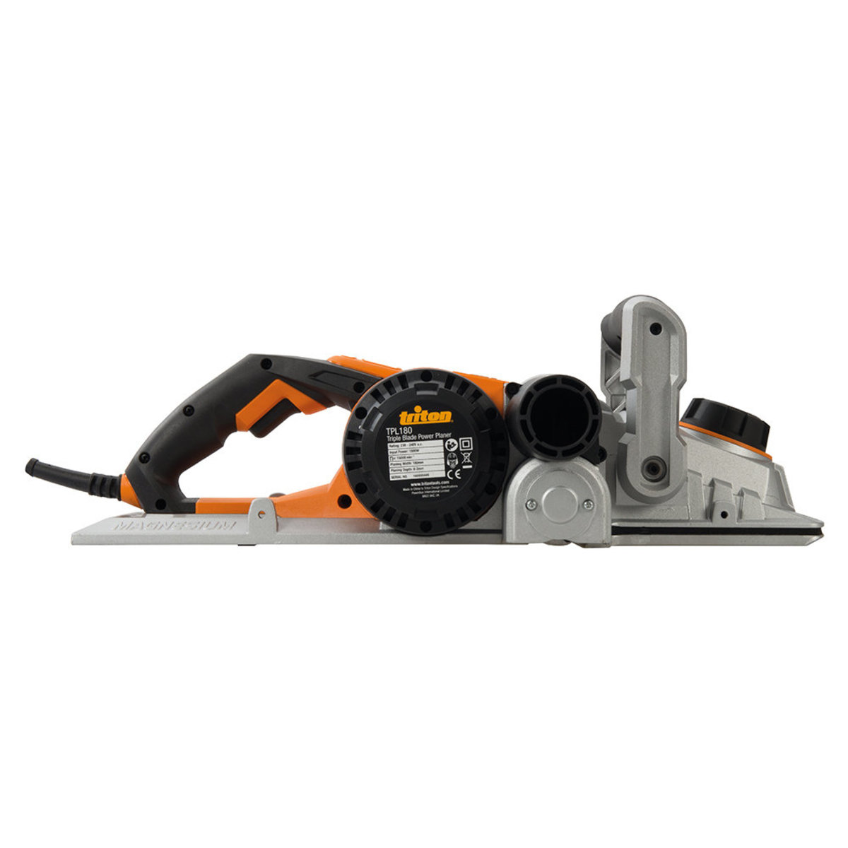 """Triple Blade Planer 180mm 7/"""" 1500W Replacement 3 Blade Tpl180"""