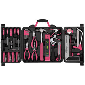 71 Piece Household Tool Kit Pink