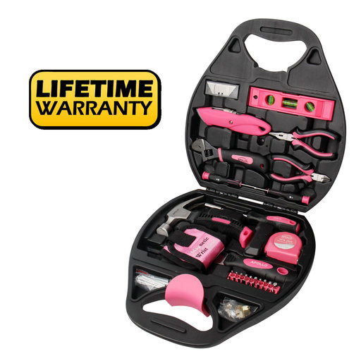 View a Larger Image of 72 Piece Household Tool Kit - Pink