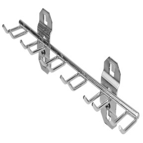 8-1/8 In. W with 3/4 In. I.D. Stainless Steel Multi-Prong Tool Holder for Stainless Steel LocBoard