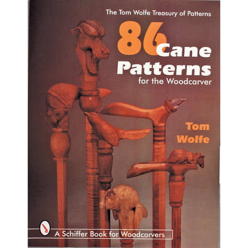 View a Larger Image of 86 Cane Patterns for the Woodcarver