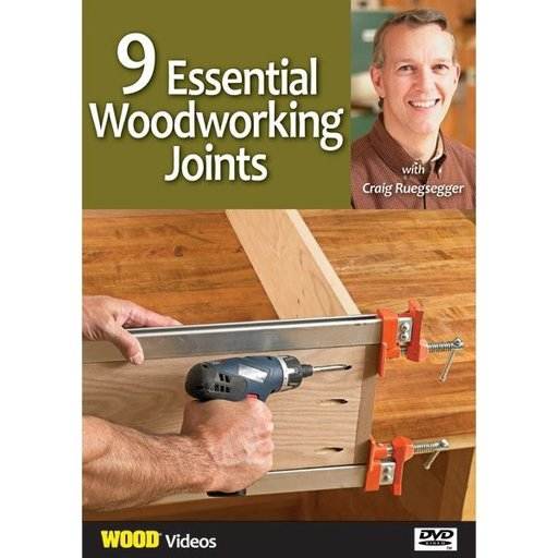 View a Larger Image of 9 Essential Woodworking Joints with Craig Ruegsegger DVD