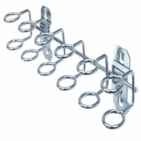 9 In. W with 3/4 In. I.D. Zinc Plated Steel Multi-Ring Tool Holder for LocBoard, 2 Pack