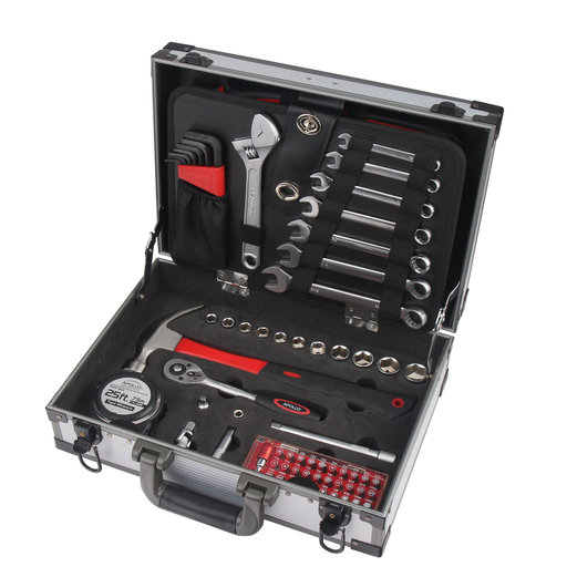 View a Larger Image of 96 Piece Deluxe General Tool Kit in Aluminum Case
